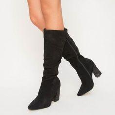 Cizme Relia Negre Knee Boots, Heels, Fashion, Heel, Moda, Fashion Styles, Knee Boot, High Heel, Fashion Illustrations