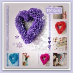 PDF Valentine Felt Ruffle Wreath by LillyBlossom on Etsy, $6.00