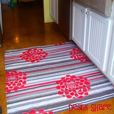 another floor cloth RUGS MADE FROM TABLE CLOTHS SO COOL IM SO GOING TO DO THIS
