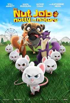 The Nut Job Nutty by Nature [Includes Digital Copy] [Blu-ray/DVD] (Enhanced Widescreen for TV) (English) 2017 - Larger Front Good Animated Movies, Bobby Cannavale, Maya Rudolph, The Nut Job, Will Arnett, Star Cast, Cool Animations, Niece And Nephew, Stories For Kids