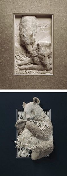 Realistic Wildlife Paper Sculptures by Calvin Nicholls | Inspiration Grid | Design Inspiration