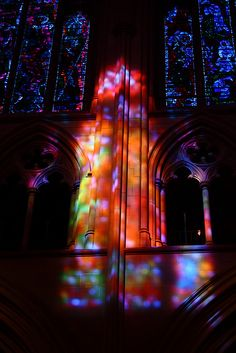 Stained glass windows and reflections by How I See Life, via Flickr