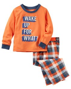 Toddler Boy 2-Piece PJs from OshKosh B'gosh. Shop clothing & accessories from a trusted name in kids, toddlers, and baby clothes.