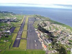 Lajes Field Airport where my dad used to work.  The base is to the right where we used to live.