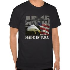 AR-15 USA Shirt black