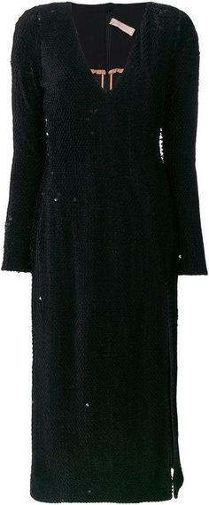 Maria Lucia Hohan sequin side-slit dress