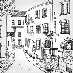 Travel The Quaint Streets Of Italy With This Free Advanced Coloring Page