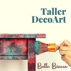DecoArt el taller de Bella Bianca que te enseña a intervenir cualquier objeto, mueble, pared, puertas con técnicas decorativas para que… Bella, Instagram, Doors, Atelier, Objects, Furniture