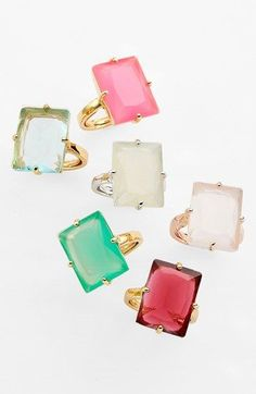 Yes! Kate Spade cocktail rings!