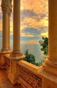 Miramare Castle, Bay of Grignano, Trieste, Friuli-Venezia Giulia region of Italy. Just outside of Trieste, Italy - my mother's hometown. Princess Aesthetic, Brown Aesthetic, Cream Aesthetic, Aesthetic Boy, Summer Aesthetic, Trieste, Travel Aesthetic, Camping Aesthetic, Aesthetic Pictures