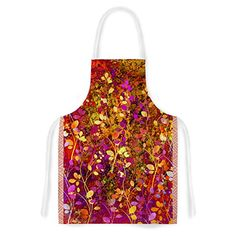 KESS InHouse Ebi Emporium Amongst the FlowersWarm Sunset Pink Orange Artistic Apron 31 by 3575 Multicolor >>> Want additional info? Click on the image. (This is an affiliate link) #WaterCoolersFilters