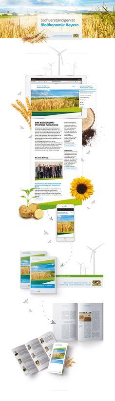 Regional und öffentlich: Rebranding, Logo-Redesign, Printdesign, Markenkommunikation, Webdesign für den Sachverständigenrat Bioökonomie Bayern. #rebranding #webdesign #brandcommunication #printdesign Web Design, Marketing, Regional, Cases, Logo, Bavaria, Design Web, Logos, Website Designs