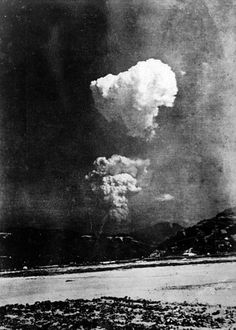 August 6th, 1945 - Rare photo of the mushroom cloud over Hiroshima