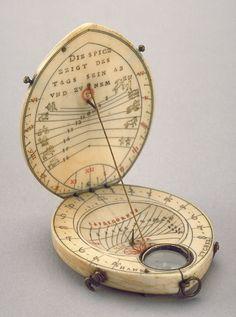 Diptych Dial by Hans Tucher, Nuremberg, Dated 1582
