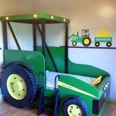 john deere beds | John Deere tractor kids loft beds