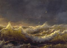 "loumargi: ""Andreas Achenbach - Clearing Up - Coast of Sicily (detail) . """