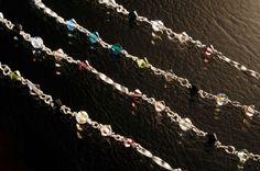 """Colar """"CRISTAL"""" em prata e swarovski coloridos - Marcia Lima."""