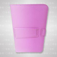 Estuche universal con teclado color rosa