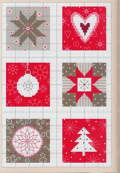 Cross-stitch Quilt Block ideas.. no color chat available, just use the pattern chart as your color guide. Gallery.ru / Фото #16 - 237 - Yra3raza