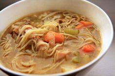 Sopa de Pollo con Fideos (Chicken Noodle Soup)--Spanish style