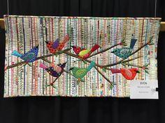 selvedge strip quilt with applique - lurrvley :) . . .