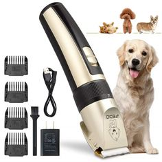 TZCER Professional Dog Grooming Kit Rechargeable Cordless Pet Grooming Clippers Low Noise Dog Clippers Suitable for Dogs,Cats,House Animals,Pets Grooming Scissors Dog Grooming Tools, Dog Grooming Scissors, Grooming Kit, Dog Clippers, Dog Varieties, Dog Anxiety, Dog Coats, Dog Accessories, Dog Supplies