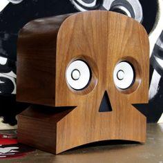 Minuskull Speakers  http://dudebrogifts.com/minuskull-speakers/