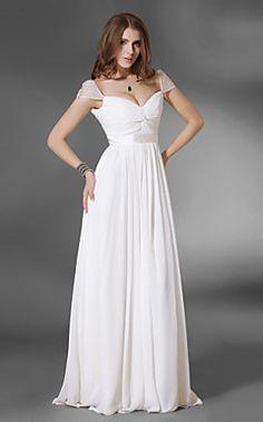 Chiffon A-line Floor-length Evening Dress