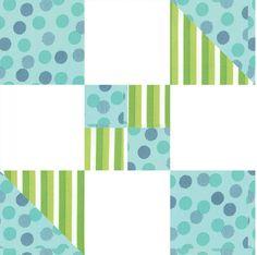 Hour Glass Quilt Block Pattern