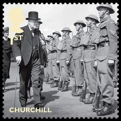 Royal Mail World War II Stamps - Sir Winston Churchill appears on the 1st class stamp