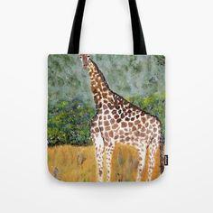 Giraffe looking Tote Bag by ticu Giraffe, Reusable Tote Bags, Gifts, Stuff To Buy, Art, Presents, Art Background, Kunst, Giraffes
