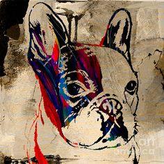 French Bulldog Graffiti, pop art, street art, from Fine Art America, www.fineartamerica.com