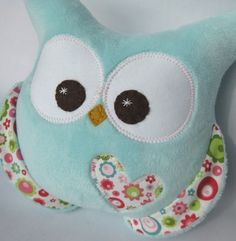 Minky soft plush owl Riley Blake fabric by aprilfoss on Etsy, $30.00
