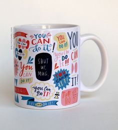 You Can Do It Mug by Emily McDowell by emilymcdowelldraws on Etsy