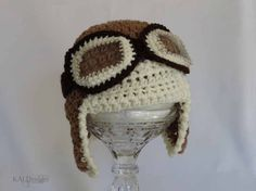 NEWBORN AVIATOR HAT  Excellent Photo Prop' by KALDesign on Etsy, $25.00