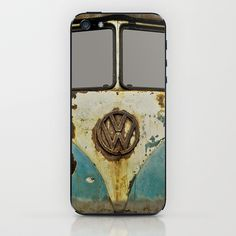 VW Rusty iPhone & iPod Skin by Alice Gosling - $15.00  Skins for iPhones and iPods.  #skins #iPhone #iPod #VW #Volkswagen #camper #bus #vintage #rust