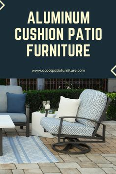 Aluminum Cushion Patio Furniture Aluminum cushion terrace furnishings is additionally a good selection for sturdiness.  The aluminum hardware is treated to be weather resistant and is also designed with comfort in mind.  Cushions also are treated to be mold and mildew resistant so they can survive the elements when left outside. Aluminum cushion terrace furnishings has some distinctive style parts to supply likewise.  Instead of a group of easy chairs, aluminum cushion patio chairs can be swivel Easy Chairs, Patio Chairs, Outdoor Sofa, Outdoor Furniture, Outdoor Decor, Aluminum Patio, Mold And Mildew, Terrace, Porch