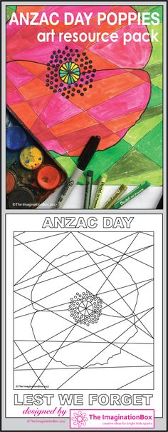 Are you looking for a colourful and creative way to commemorate Anzac Day with students in Australia, New Zealand and around the world? Use these abstract, eye catching poppy templates and posters to create stunning artworks and Anzac Day displays for the classroom. This resource pack contains templates, posters, bookmarks and coloured examples for inspiration and ideas
