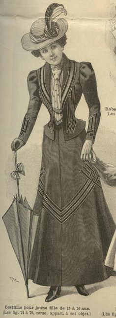 Mode Illustree Pattern March 19 1899 Dress W Fringes | eBay