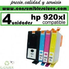 HP 920XL TINTA COMPATIBLE PACK 4 UNIDADES