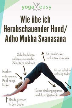 Anleitung für die Yoga-Übung/Asana Herabschauender Hund/Adho Mukha Svanasana