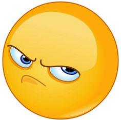 Pissed off emoticon vector Smiley Emoji, Big Emoji, Funny Emoji Faces, Emoticon Faces, Emoji Love, Cute Emoji, Angry Face Emoji, Emoji Images