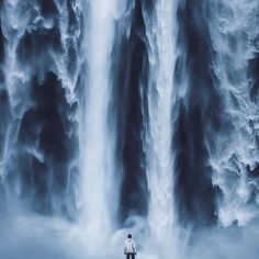 """Power"" Taken at #Skógafoss in #Iceland. One of my favorite images from my trip."