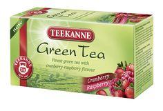 Green Tea Cranberry-Raspberry – wyśmienity specjał herbaciany z owocową nutą smakową.  Herbata zielona znana jest w Chinach od tysięcy lat jako wyśmienity napój i źródło dobrego samopoczucia. Obecnie jest napojem popularnym na całym świecie, lubianym za swój przyjemny smak. Green Tea Cranberry-Raspberry to wyborna kompozycja najznakomitszej zielonej herbaty uzupełniona bogatym i świeżym smakiem żurawiny i maliny.