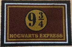 capacho personalizado divertido hogwarts 9 3-4 harry potter                                                                                                                                                                                 Mais