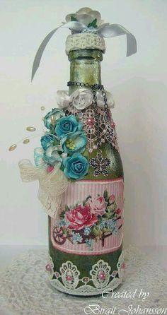 Wine bottle, boho