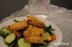 Baked Falafel & Arugula Salad. Naturally #glutenfree  #glutenfreerecipes