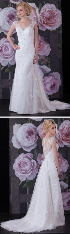 """Isabel de Mestre Brautmode 2017 - New York Kollektion 2017: Brautkleid """"Anastasia"""" mit raffiniertem Rückenausschnitt."""