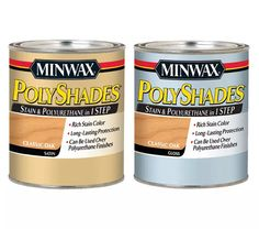 Minwax® PolyShades® Allow you to stain over a stain without completely re-sanding and re-staining!
