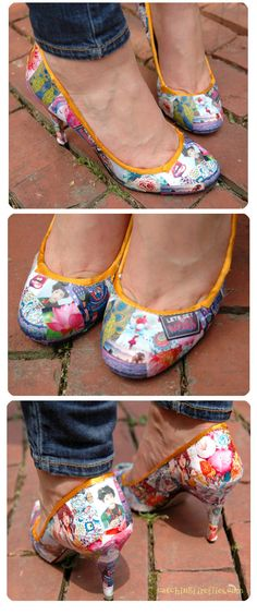How to Decoupage Shoes | creative gift ideas